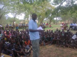 A breadfruit sermon at Singwamba primary school. 506 converts and just trees! ;)